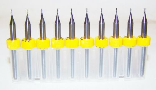 "(10) 0.50mm (.0197"") 2 FLUTE MICRO CARBIDE ENDMILLS Kyocera 1600.0197.079"
