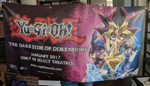 "HUGE Yu-Gi-Oh! Movie Banner - The Darkside of Dimensions - 30"" x 60"" Poster"