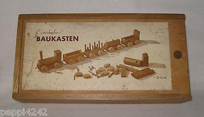 ++ alter Eisenbahn Baukasten aus Holz - D G M ++Hhj