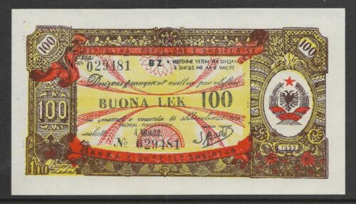 Albania 1953 100 Leke Foreign Exchange Note  P-FX8 AU