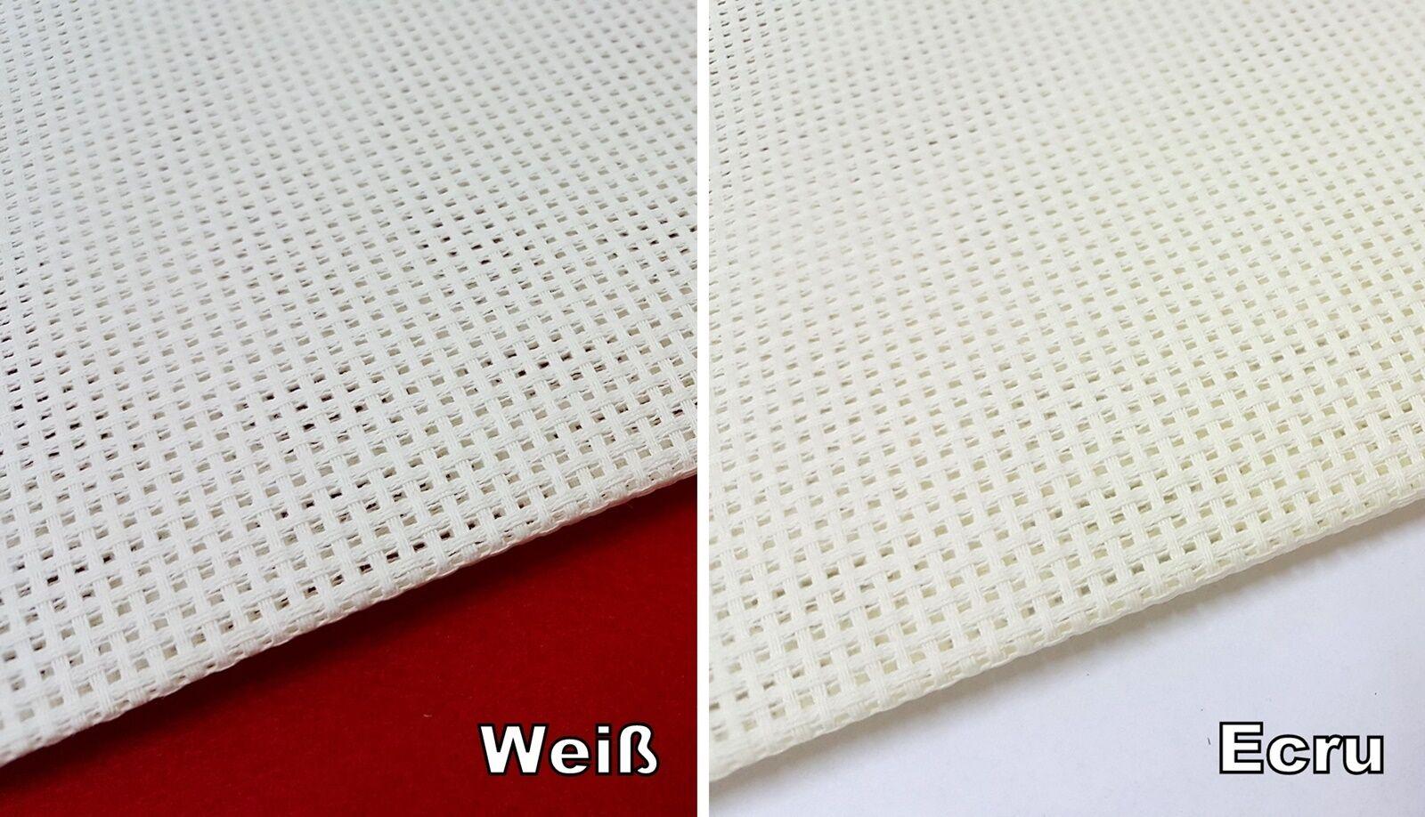 Aida Stickstoff 3,2 Stiche/cm weiß  ecru  160 cm breit Meterware 19,75 €/m