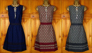 NEW-LADIES-MONSOON-NAVY-BLUE-BURGUNDY-RED-GREY-VINTAGE-STYLE-PARTY-SHIFT-DRESS