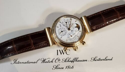 Beautiful Vintage 18k Solid Gold IWC Da Vinci Perpetual Callander full kit - watch picture 1