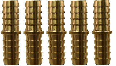12 Hose Barb X 12 Hose Barb Brass Hose Splicer Pack Of 5