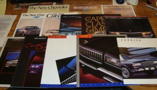 1977-1988 Chevrolet Full Size Impala Caprice Classic Sales Brochure Lot of 13