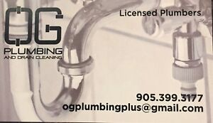 OG Plumbing and Drain Cleaning - Available NOW!