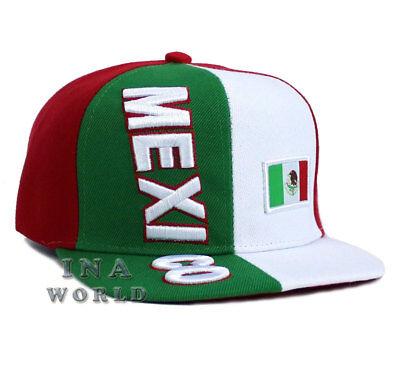 MEXICAN hat MEXICO Flag cap Embroidery Snapback Closure Flat bill Baseball cap