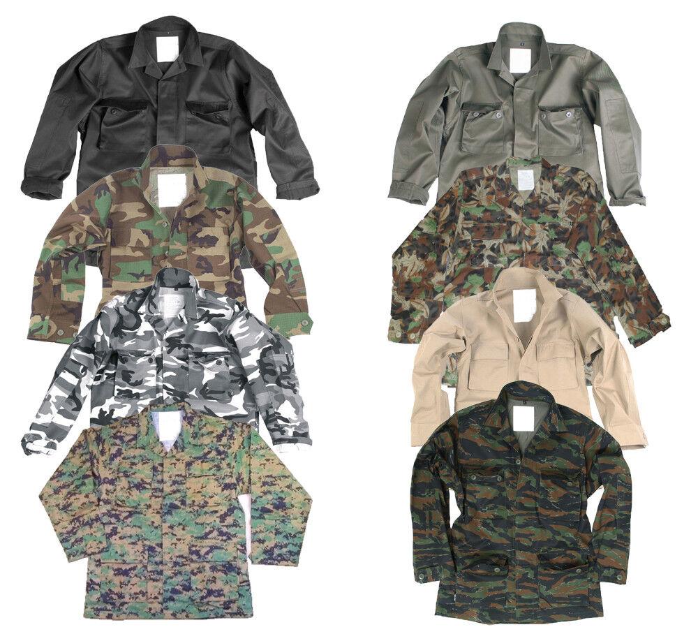 US BDU Feldjacke Tarnjacke Rangerjacke, S-XXL, 8-Farben, Camouflage