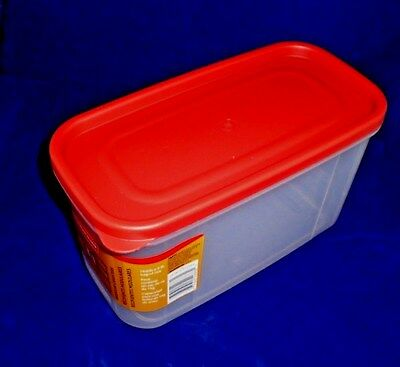 RUBBERMAID 10 CUP MODULAR FOOD STORAGE CANISTER CONTAINER RED LID 1776471 NEW