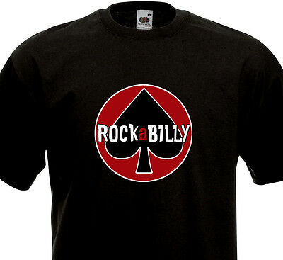 Greaser Boys (T-shirt ROCKABILLY - As de pic Luck Lucky Rockers Greaser Rock'n'Roll Teddy)