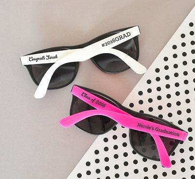 25 Personalized Graduation Sunglasses Graduation Party Favors