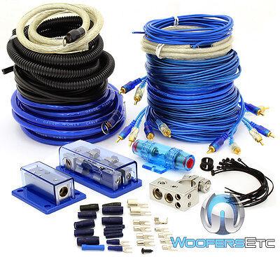 4 GAUGE & 8 GAUGE 2WAY AMP POWER 3 RCA WIRES 5000 WATT INSTALL AMPLIFIER KIT 0 6