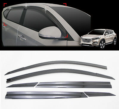 D054 Smoke Sun Visor Window Shield 6p for 2016 2021 Hyundai Tucson