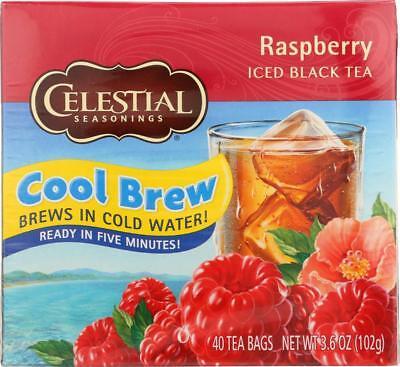 Celestial Seasonings Black Raspberry Tea (Celestial Seasonings-ICED BLACK TEA, RASPBERRY COOL BREW (6-40)