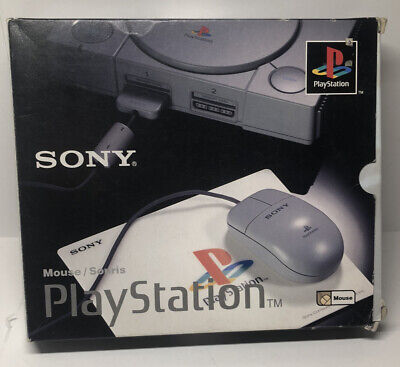 Sony Scph-1090 PlayStation mouse In Box With Mouse Pad!