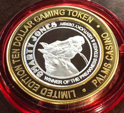PALMS Casino $10 Silver Strike Token 2005 Smarty Jones Red Cap Ltd 800