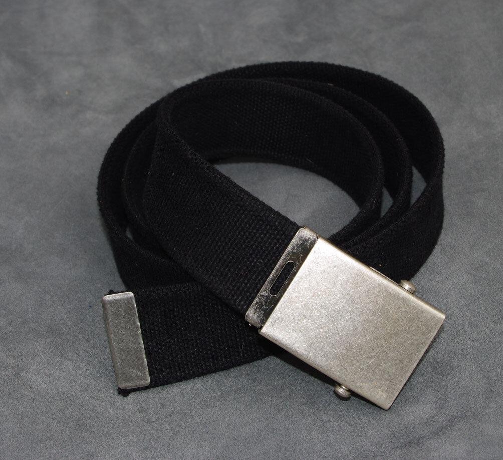 Adults Boys Mens Ladies kids Black Heavy Duty 40mm Canvas Belt l xl xxl BB2//dr3