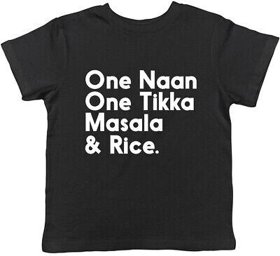 One Naan One Tikka Masala & Rice Funny Kids Childrens T Shirt (Masala Rice)