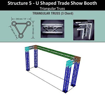 10 X 5 High U Triangle Truss Trade Show Booth