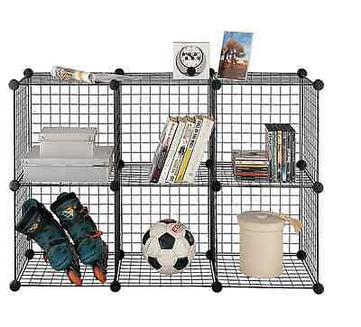 Storage Standing Kids for Floor 6 Cube Shelves Toys Unit Wire Organizer Garage