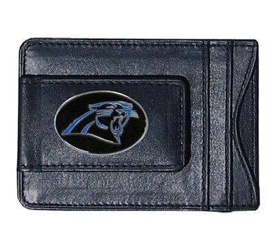 Carolina Panthers NFL Football Team Leather Card Holder Money Clip Wallet