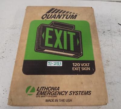 Lithonia Lighting Quantum 120v Exit Sign Msw3r 120 Wks