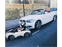 White Bmw 120d Convertible M Sport Automatic Red interior