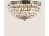 *** M&S RRP PRICE £120 OUR PRICE £60 Gem Ball Flush Ceiling Light