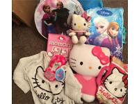 Bundle of girls hello kitty frozen items