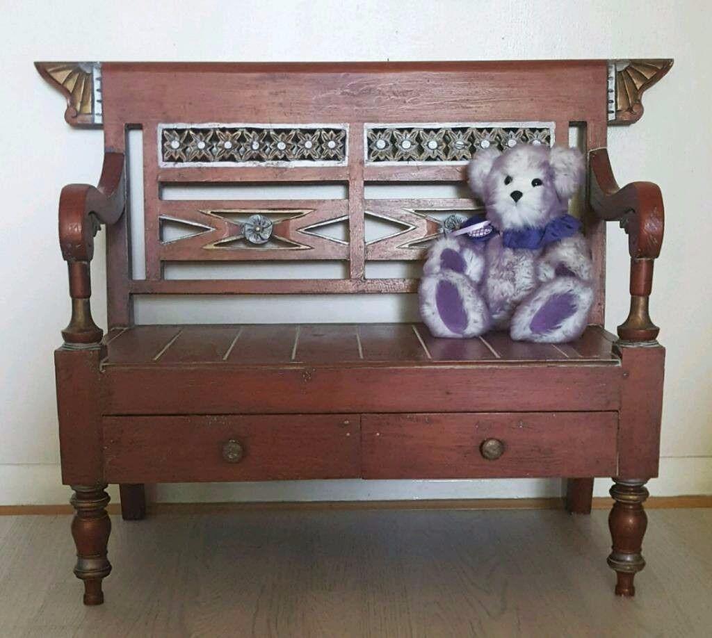Childrens Bench - Nursery Kids Bedroom Furniture Playroom Outdoors