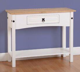 New White Cream or Grey Corona Hall Console table £79