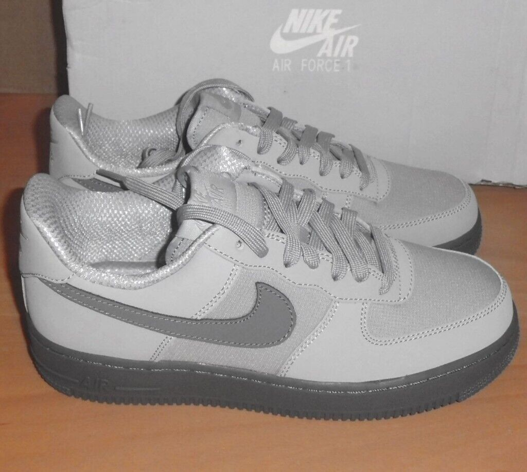 competitive price a8586 7462c Nike Air Force 1 Trainers Wolf Grey Cool Grey 07-TXT Brand NEW