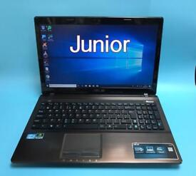 Asus i7 UltraFast 8GB Ram HD Laptop, 500GB, Office, NVIDIA GT 520M, Excellent Cond, HDMI