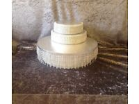 NOW £20 wedding cake stand and 2 separators risers