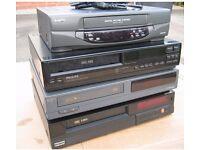 JOB LOT VINTAGE VIDEO RECORDER FERGUSON VIDEOSTAR VINTAGE VCR PHILIPS VIDEO VCR