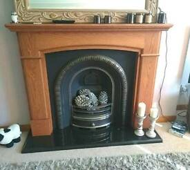 Fireplace, surround and hearth