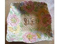 Vintage Majolica Decorative Serving Bowl Retro 1930/40/50/60/70's
