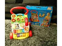Baby walker with box
