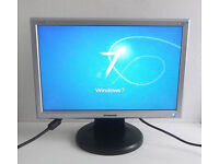 Widescreen Monitor - 19 Inch Hanns G (HG191A) (Audio In, Gaming PC, Desktop PC, Apple, Mac, Win 7)