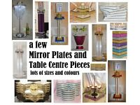 can post lots of wedding decorations table centre pieces mirror plates cake / flower display stands