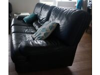 Genuine leather 4 seater sofa for sale - £45