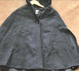 Girls Age 13-14 Wool Poncho/Cape