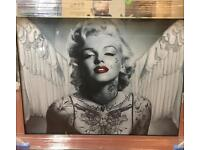 Liquid art Marylin Monroe Angel picture mirror framed