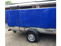 steel Trailer Brenderup 1205 with PVC High cover