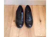Black brogue shoe, leather (size 38)