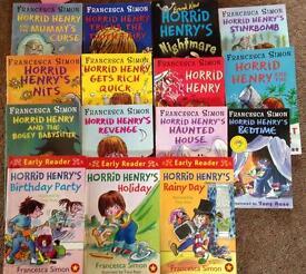 15 paperback Horrid Henry Books