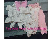 Tiny baby clothes bundle girls & unisex