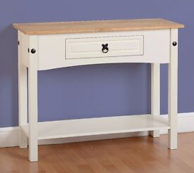 New Corona Console Hall Table in White, Cream or Grey with solid wood top Only £79 In stock now