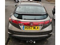 Honda CIVIC MANUAL 5 DOOR SATNAV LEATHER SEATS ALLOYS