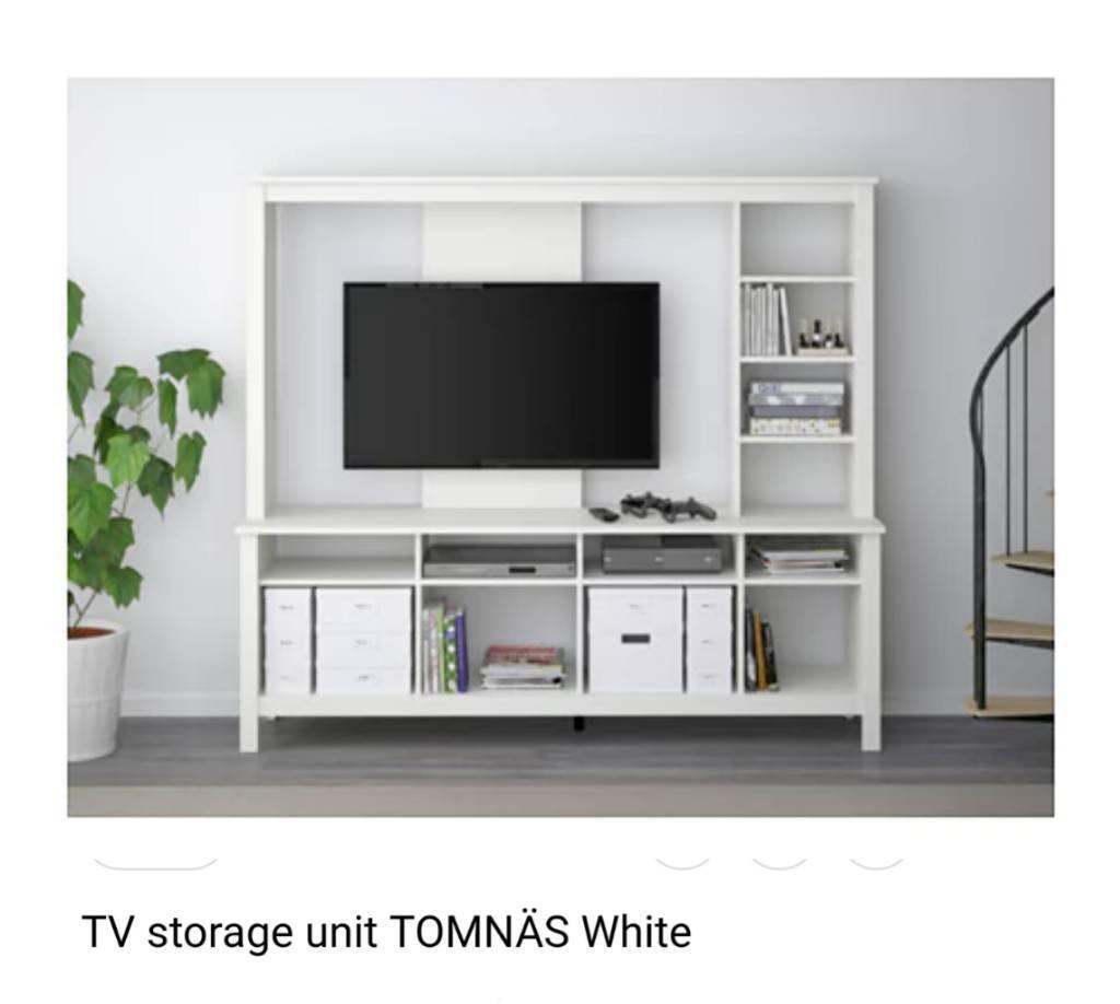 Ikea Tv Unit Storage White